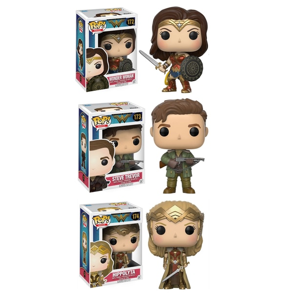 Funko POP! Movies Heros Wonder Woman Collectors Set; Sword & Shield Wonder Woman, Hippolyta, Steve Trevor 26283114