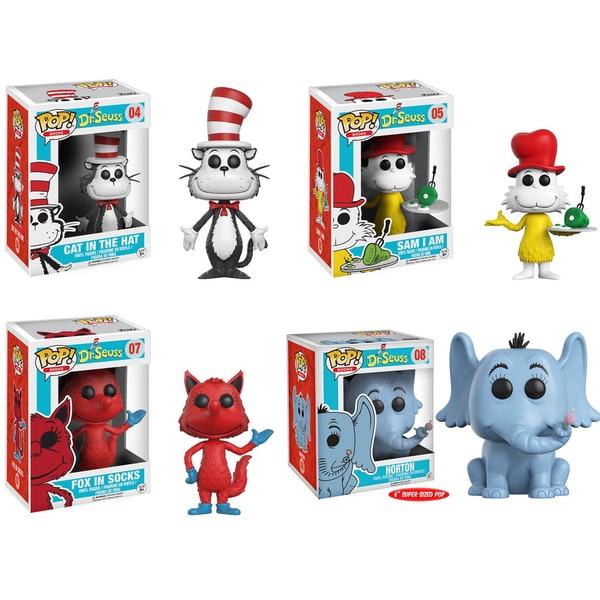 "Funko POP! Books Dr. Seuss Collectors Set; Cat in the Hat, Horton 6"", Sam I Am, Fox in Socks 26283119"