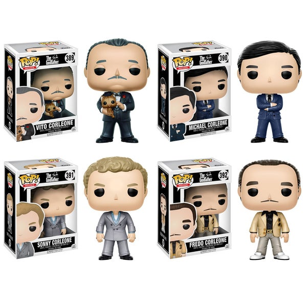 Funko POP! Movies Godfather Collectors Set; Vito Corleone, Michael Corleone, Sonny Corleone, Fredo Corleone 26283198