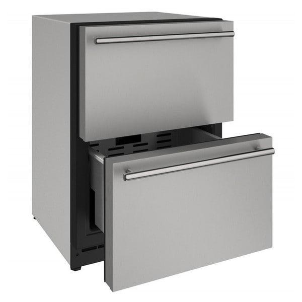 U-Line 24-inch Stainless Steel Panel 115v Refrigerator Drawers 26283313