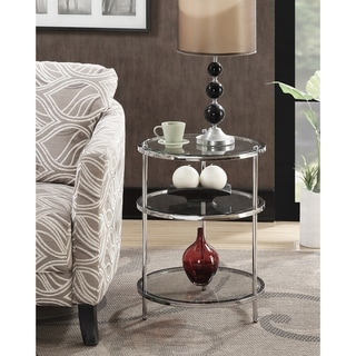 Silver Orchid Farrar 3-tier Round End Table