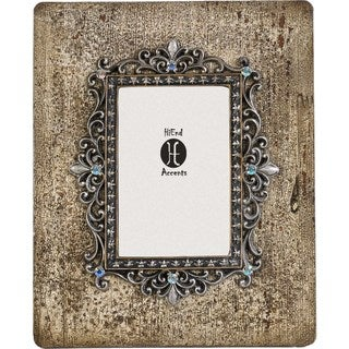 HiEnd Accents Silver and Rhinestone Distessed Frame 4 X 6