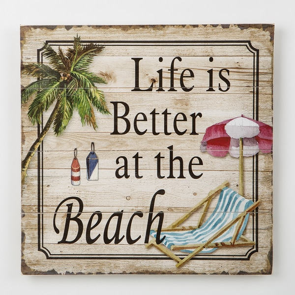 Life is Better at the Beach - Wood Wall Plaque 26317961