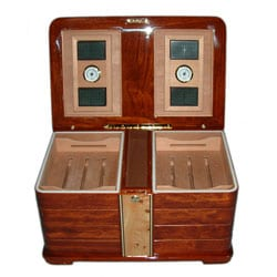 Eight-compartment Brown Cigar Humidor