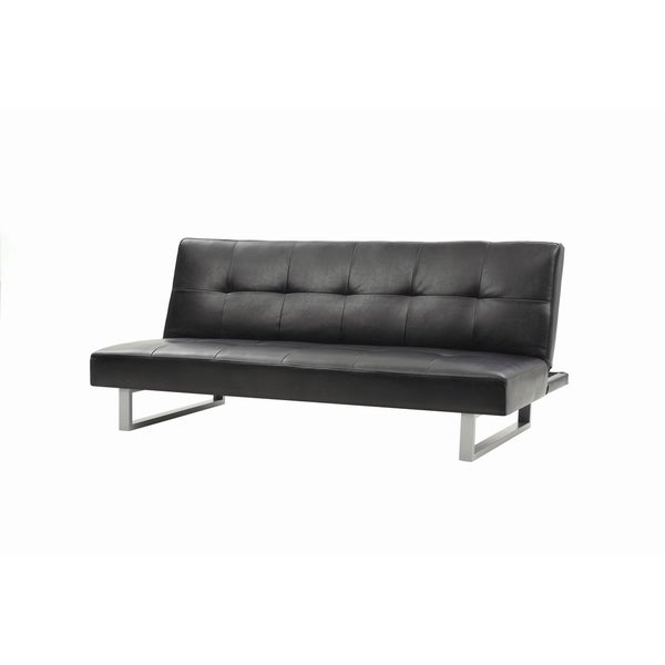 LYKE Home Faux Leather Sofa Bed