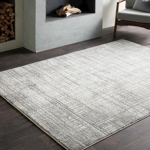 Jaden Tonal Abstract Grey Rug (6'7 x 9'6) 26407315