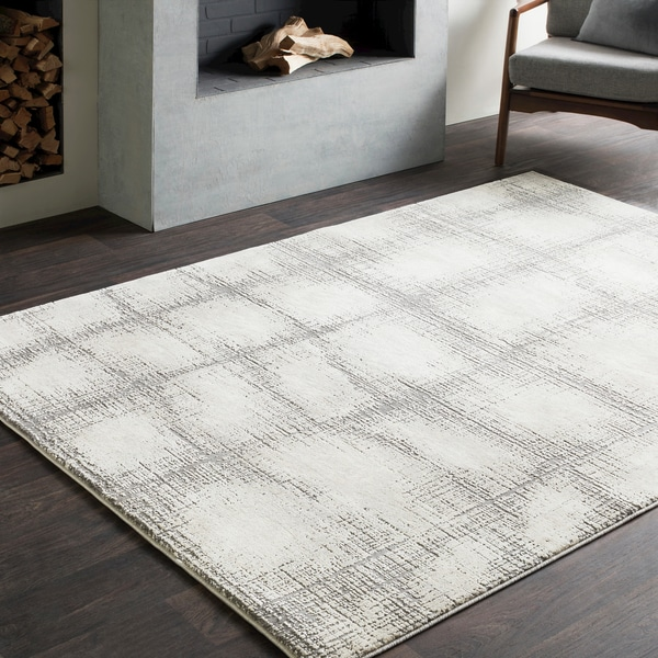 Distressed Modern Abstract Grey (7'10 x 10'3) 26407318