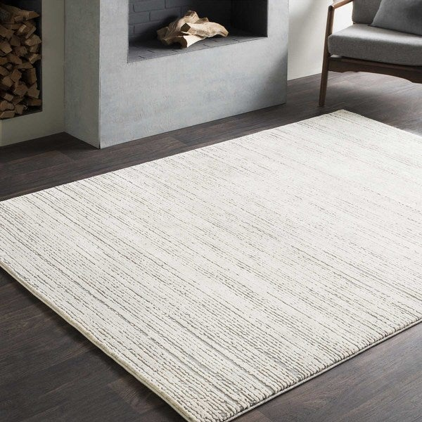 Tranquil Modern Grey & Taupe Rug (6'7 x 9'6) 26407319