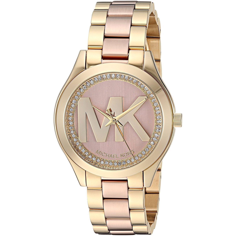 6ce5926a0d5e67 Michael Kors Mini Slim Runway Rose Dial Ladies Watch MK3650