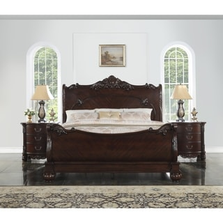 Saillans Cherry Finish Solid Wood Construction Bed