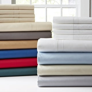 Pointehaven 620 Thread Count 6-piece Oversized Long Staple Cotton Extra Deep Pocket Bed Sheet Set