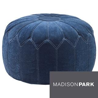 Madison Park 'Kelsey' Round Pouff Ottoman