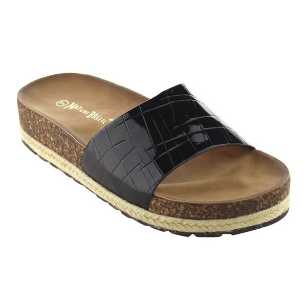 Nature Breeze FJ43 Women's Basic Platform Wedge Heel Espadrilles Beach Sandals