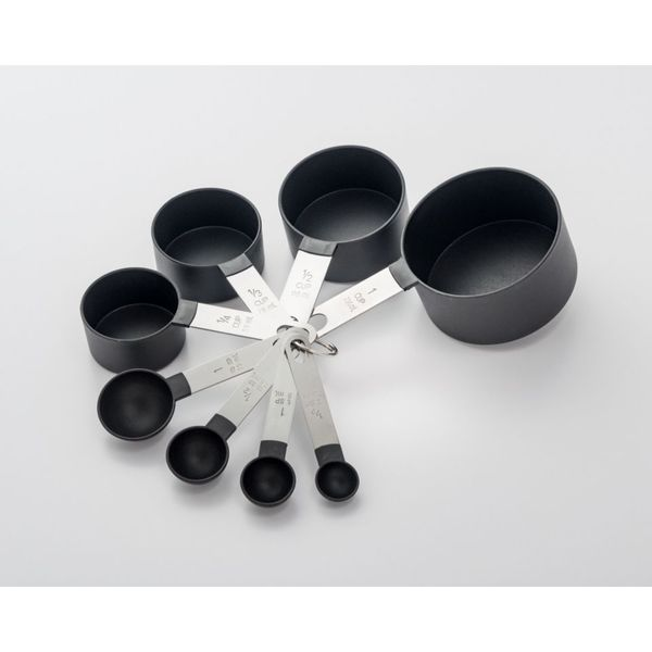 8 Piece Stainless Steel and Black Nylon Measuring Set 26423792