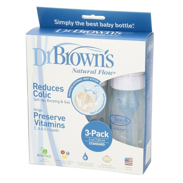 Dr. Brown's BPA Free Polypropylene 4-ounce Natural Flow Standard Neck Bottle 26509716