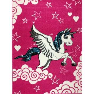 KC Cubs Modern Unicorn Pink Area Rug