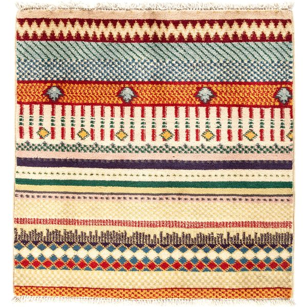 Qazvilkhal Hand-knotted Area Rug (2'1 x 2'3) 26514654