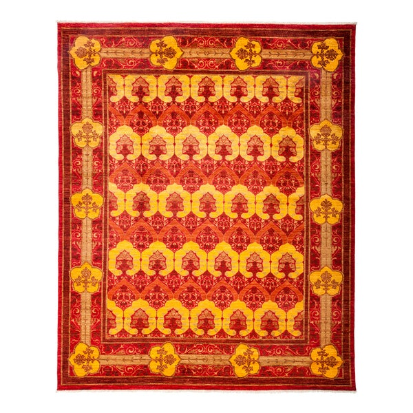 Taroumas Hand-knotted Area Rug (8'1 x 9'9) 26516807