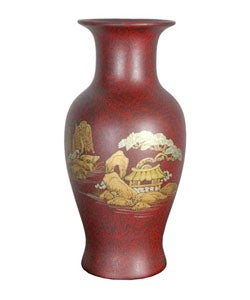 Red Fishtail Porcelain Vase (China)