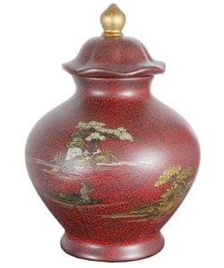 Red Temple Porcelain Jar (China)