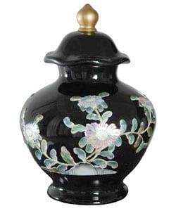 Black Temple Porcelain Jar (China)