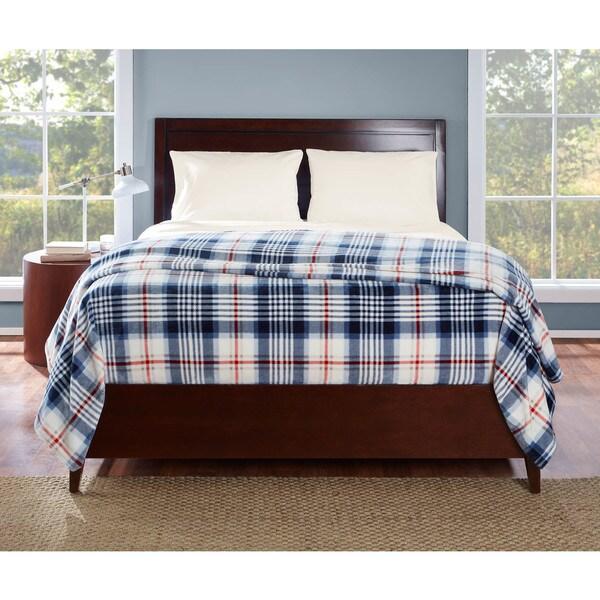 Eddie Bauer Summit Plaid Navy Blanket 26557211