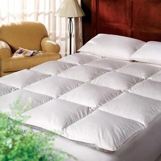 1221 Bedding Cotton 3-inch Down Alternative Fiber Bed Mattress Topper - White