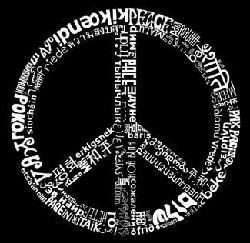 Los Angeles Pop Art Men's Peace 77 Hoodie