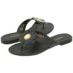 Madden Girl Flowwer Black Patent Sandals