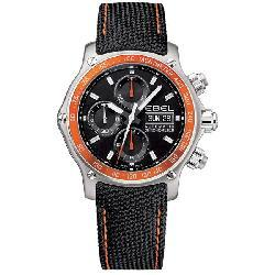 Ebel 1911 Discovery Men's Black Face Chronograph Watch