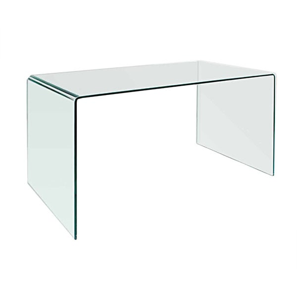 Creative Images Bent Clear Glass Office Desk Table 26613275