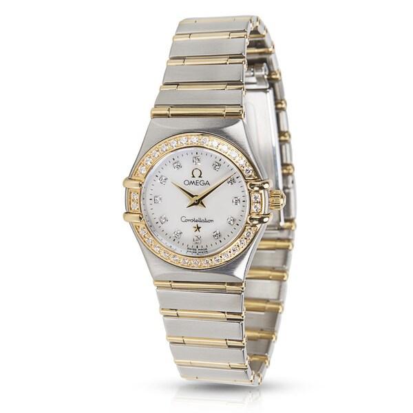 Pre-Owned Omega Constellation 1267.75.00 Ladies Watch in 18k Gold & Steel 26622328
