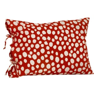 Lizzie Red and White Standard Pillow Case w/ Ties