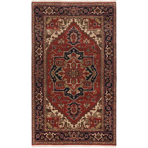 ecarpetgallery Serapi Heritage Red Wool Rug (4'10 x 8'1) 26622677
