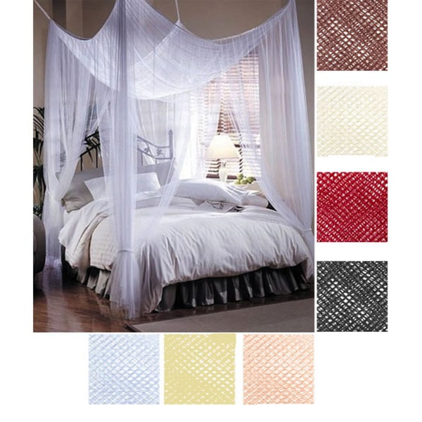 Woven Polyester Four-point Bed Canopy (76' x 84' x 96')