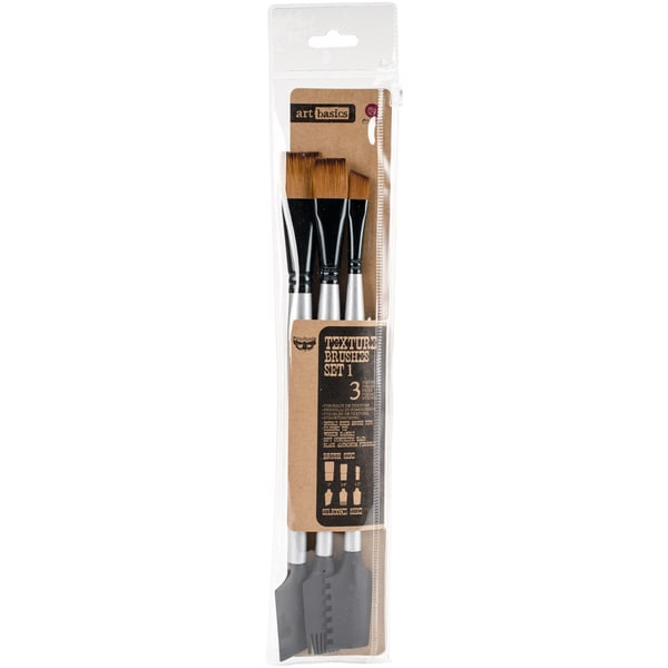 Finnabair Art Basics Double-Ended Brush Set 3/Pkg-Texture #1 26700846