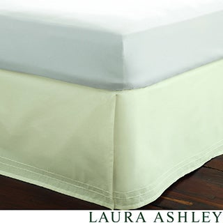 Laura Ashley Cotton Pleated Bedskirt in White or Ivory