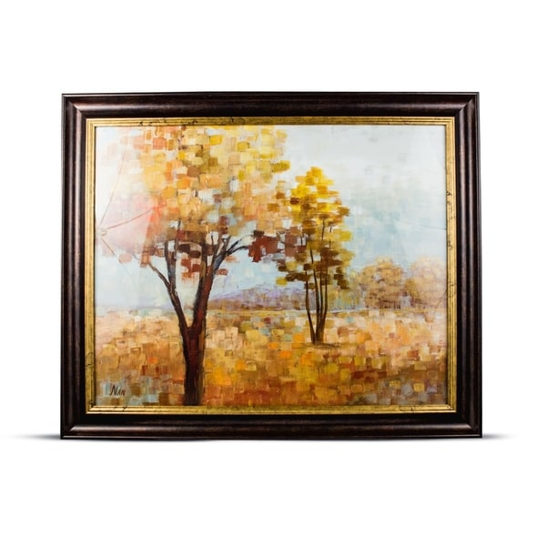 Impressionism Autumn Trees Framed Wall Art Painting Print on Canvas 26704873