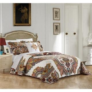 Chic Home 4-Piece Ogin Cotton Reversible Quilt Set