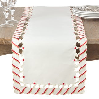 Candy Cane Design Christmas Holiday Table Runner