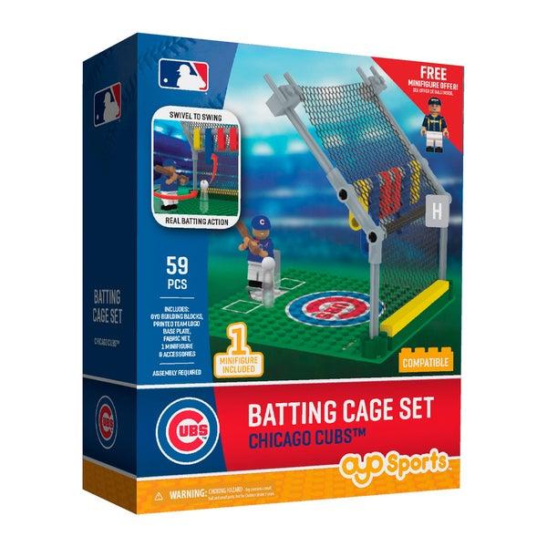 Chicago Cubs MLB Batting Cage Building Block Set 26735994