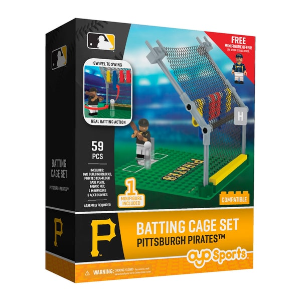 Pittsburgh Pirates MLB Batting Cage Building Block Set 26736009