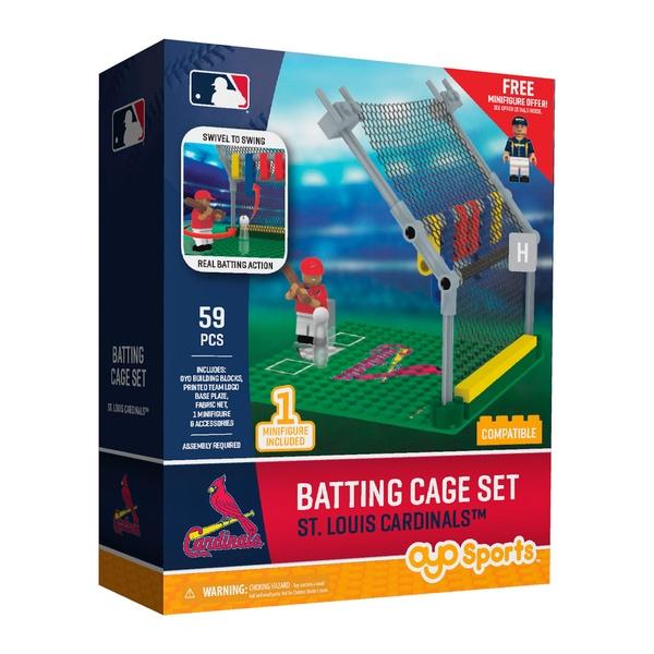St. Louis Cardinals MLB Batting Cage Building Block Set 26736039