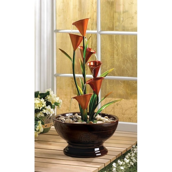 Blooming Lilies Water Flowing Centerpiece 26740723