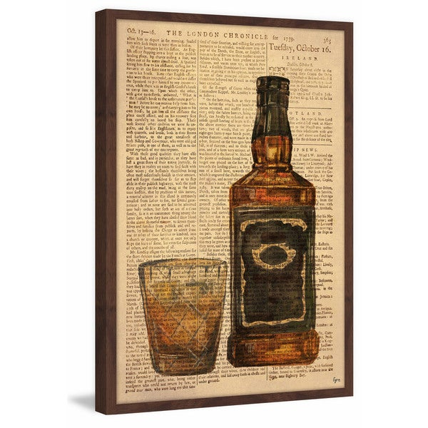 'Black Label Bourbon' Framed Painting Print 26747862