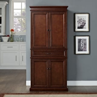 """Parsons Pantry in Mahogany - 33 """"W x 19 """"D x 72 """"H"""