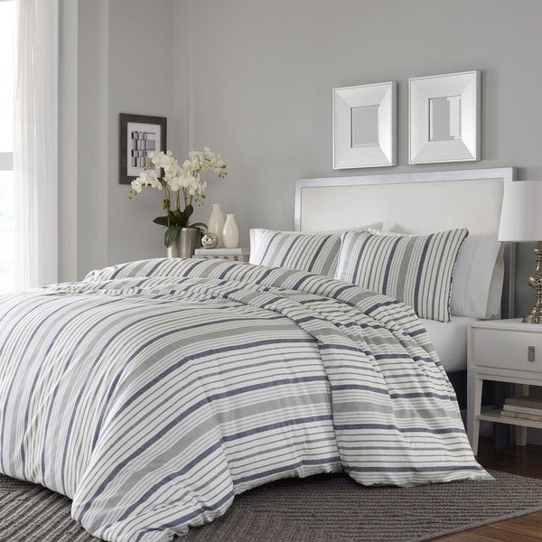 Stone Cottage Conrad 3-piece Cotton Sateen Full/Queen Size Duvet Cover Set (As Is Item) 26770536