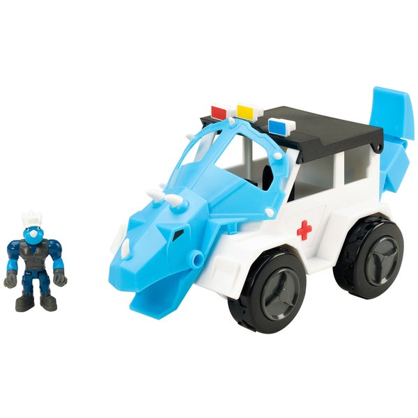 Educational Insights Dino Construction Company Rescue Crew Turbo the Triceratops Police SUV 26777157
