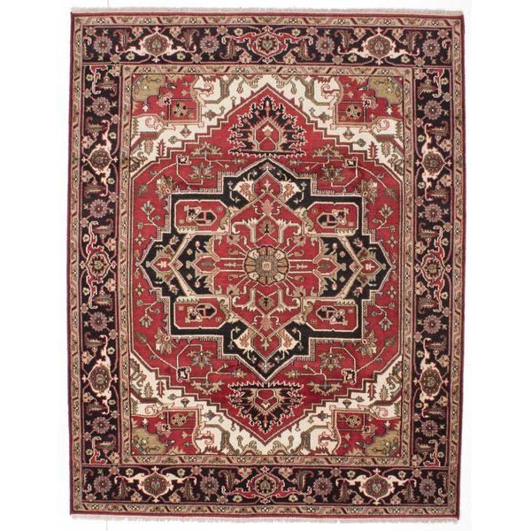 eCarpetGallery Hand-knotted Serapi Heritage Red Wool and Cotton Rug (8'1 x 10'2) 26809244
