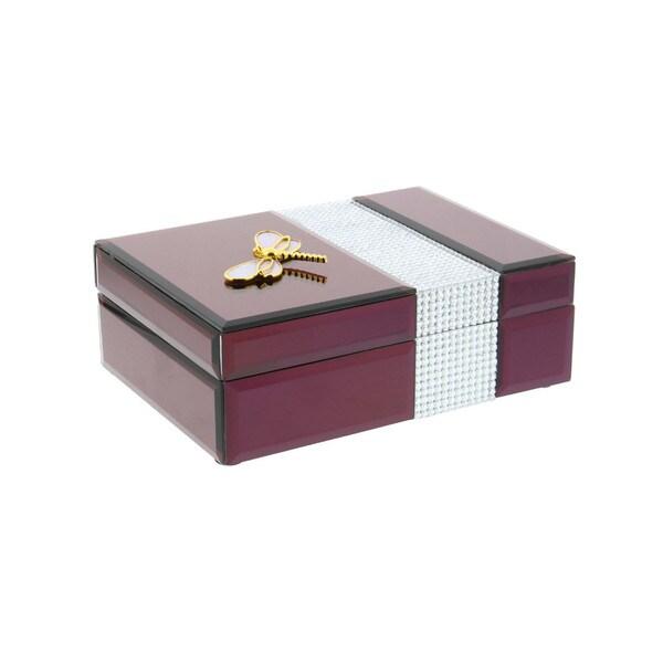 Marvelous Wine Wood Glass Jewelry Box 26848524